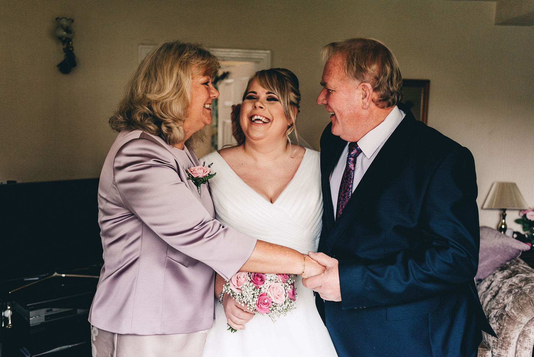 Bride and Mother and Father