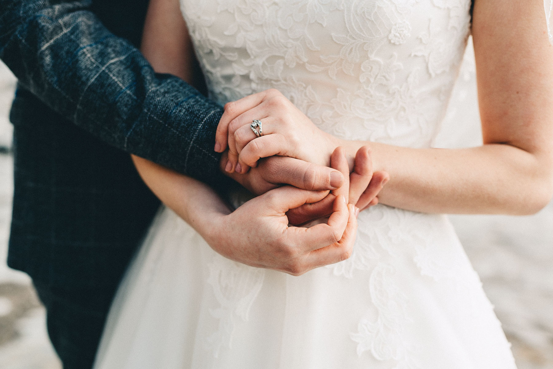 Couples hands showing wedding rings