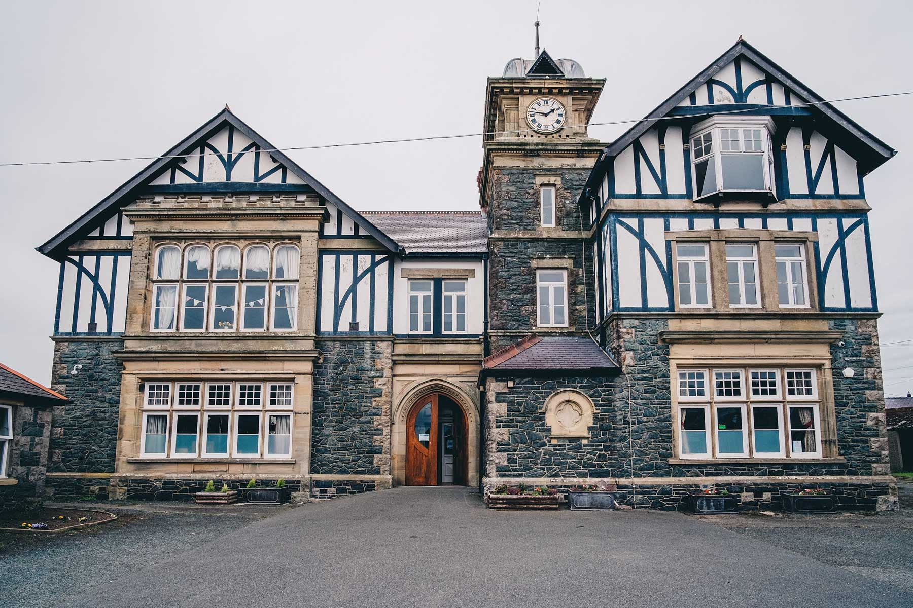 Outside of the Pritchard Jones Institute in Anglesey North Wales