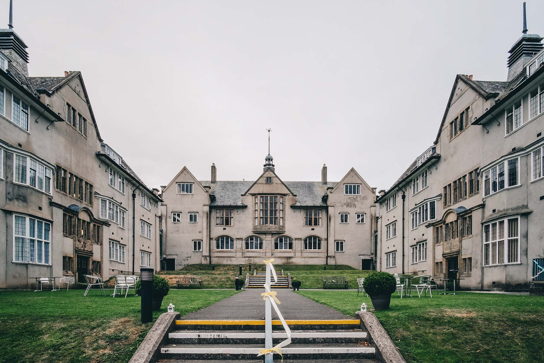 Wide shot of Hugh Owens Hall, Bangor University