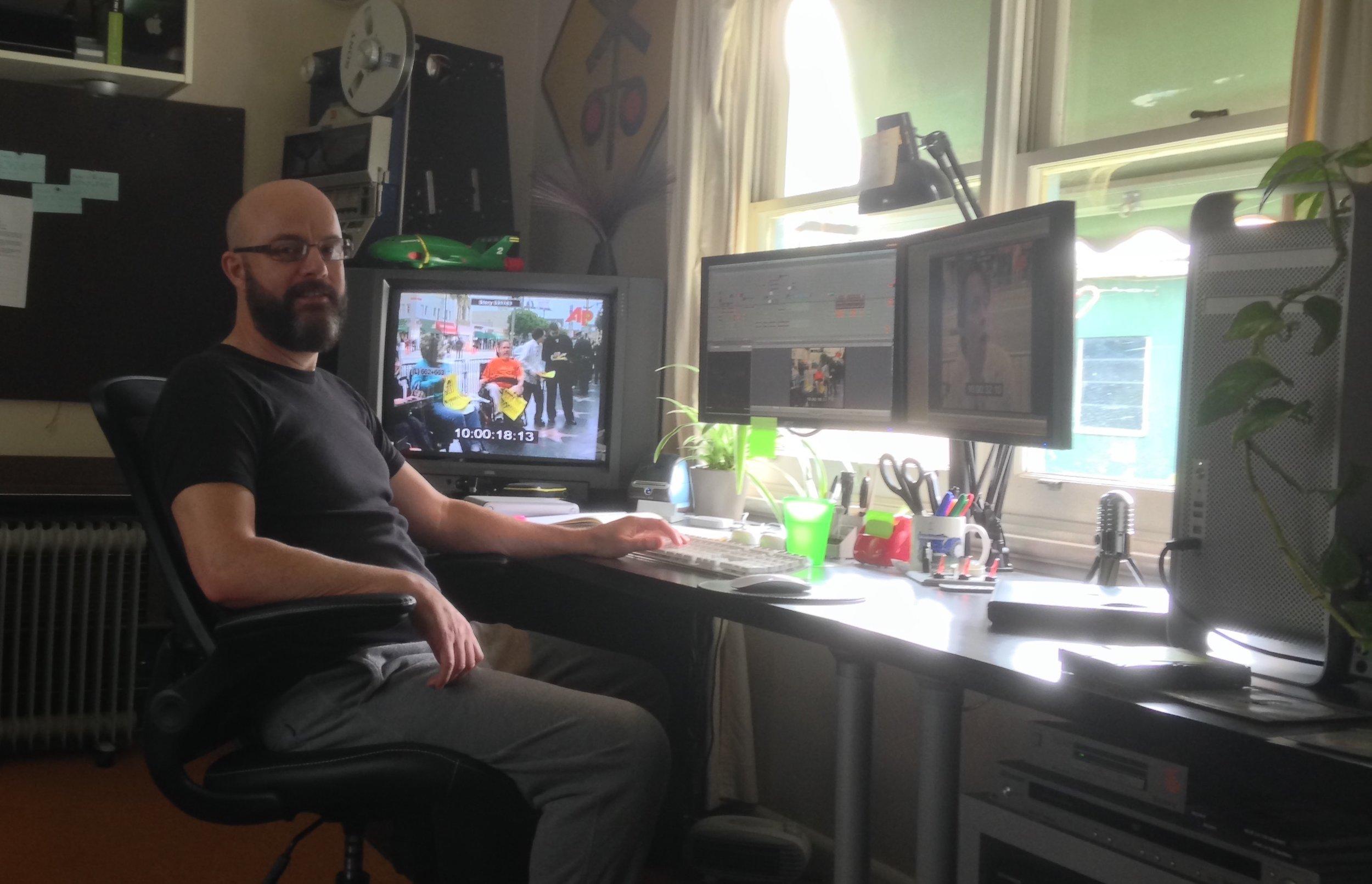 Hard at work editing  Defiant Lives