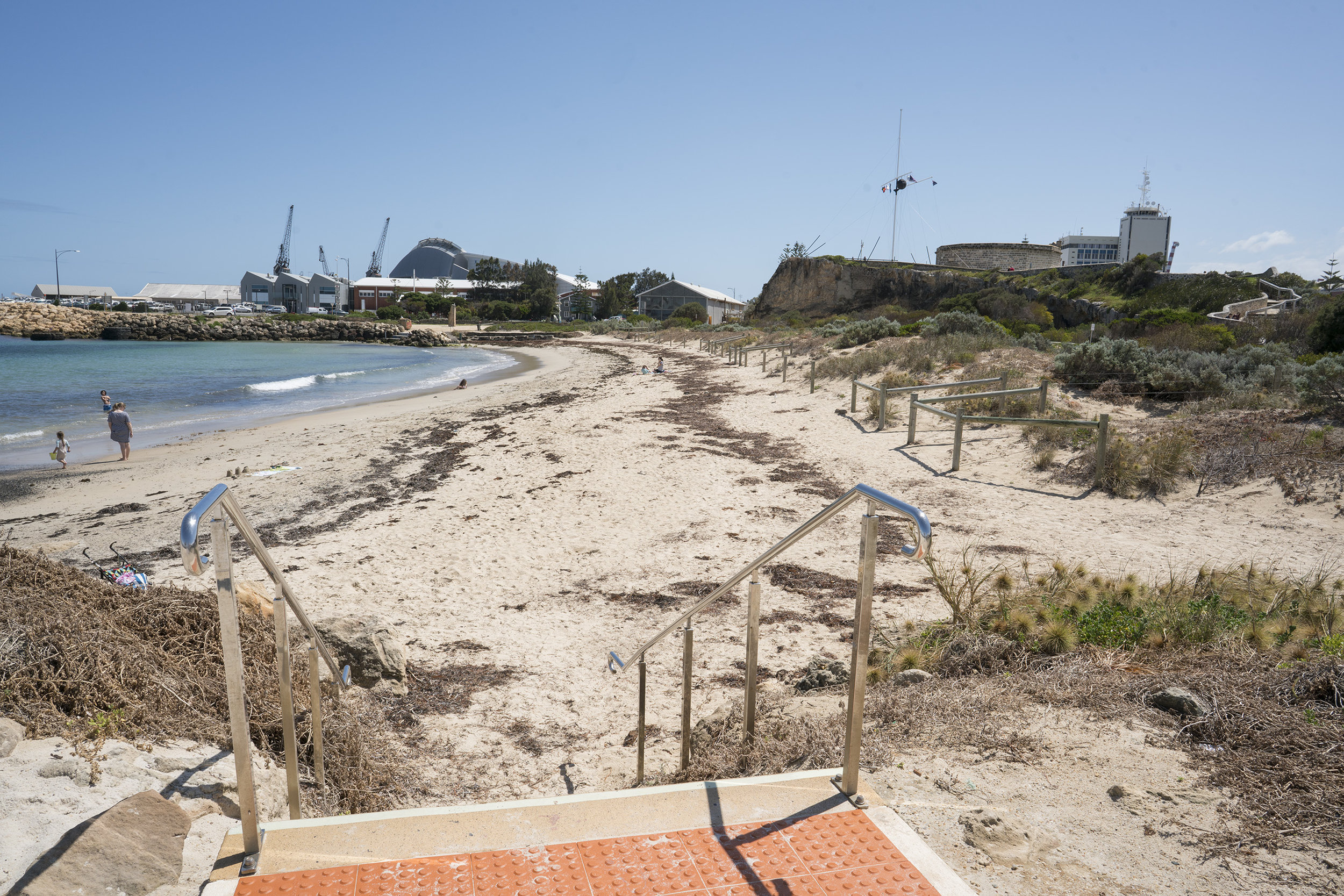 Plate 8: The walk along Bathers Beach looking back