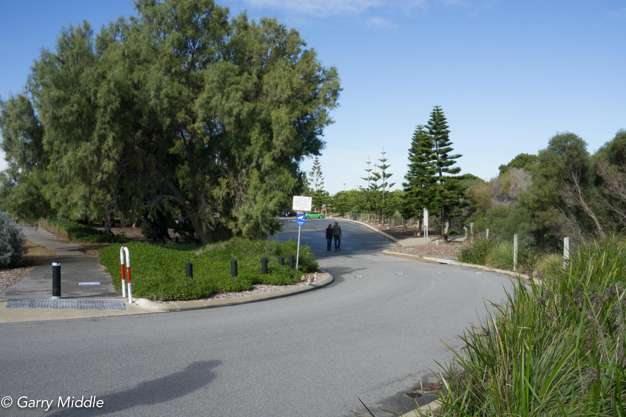 Plate 4: End of Path at the northern end of Coogee Beach carpark showing the short path that goes around the carpark