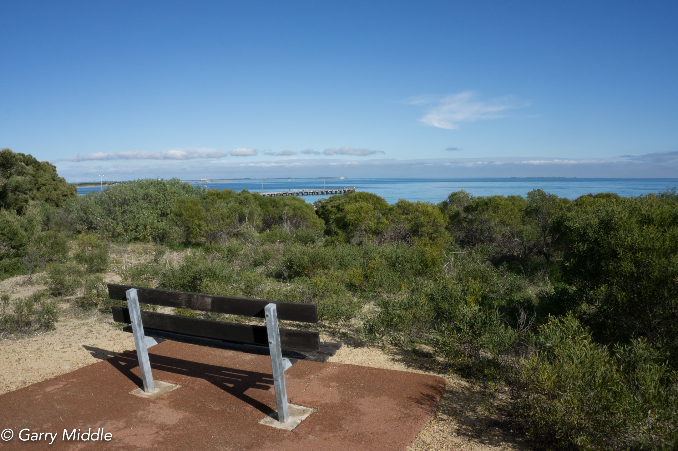 Plate 13: One of the seats near John Graham Reserve with ocean views