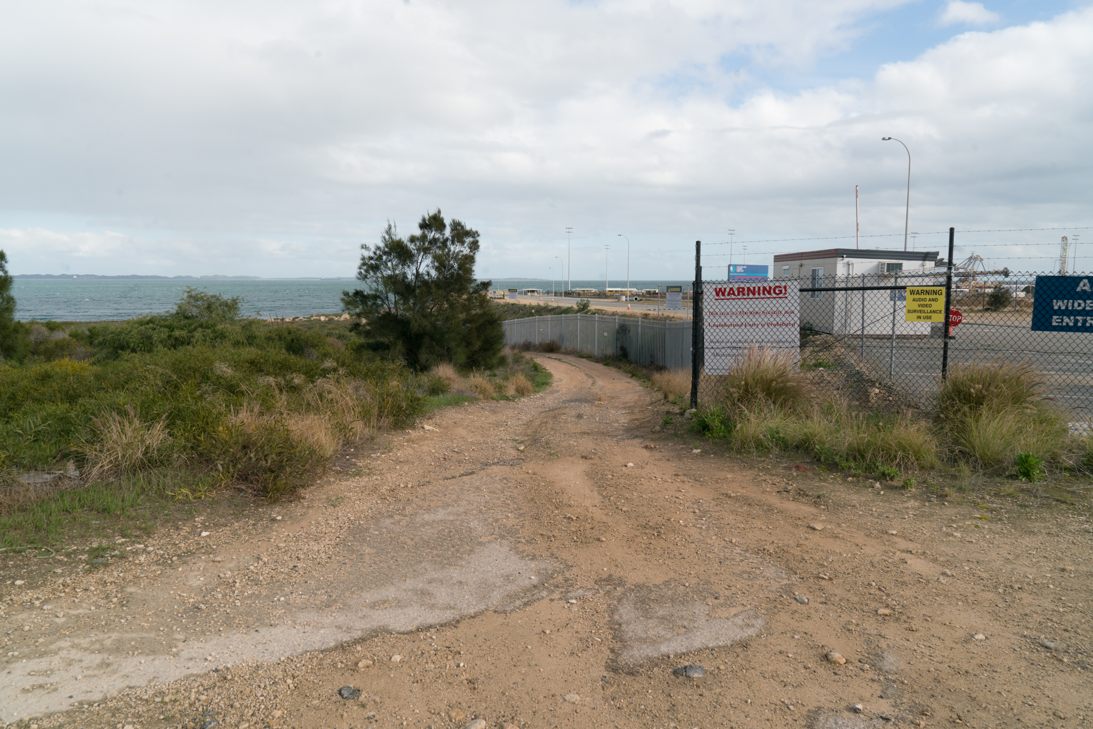 Plate 6: The track next to the boundary fence