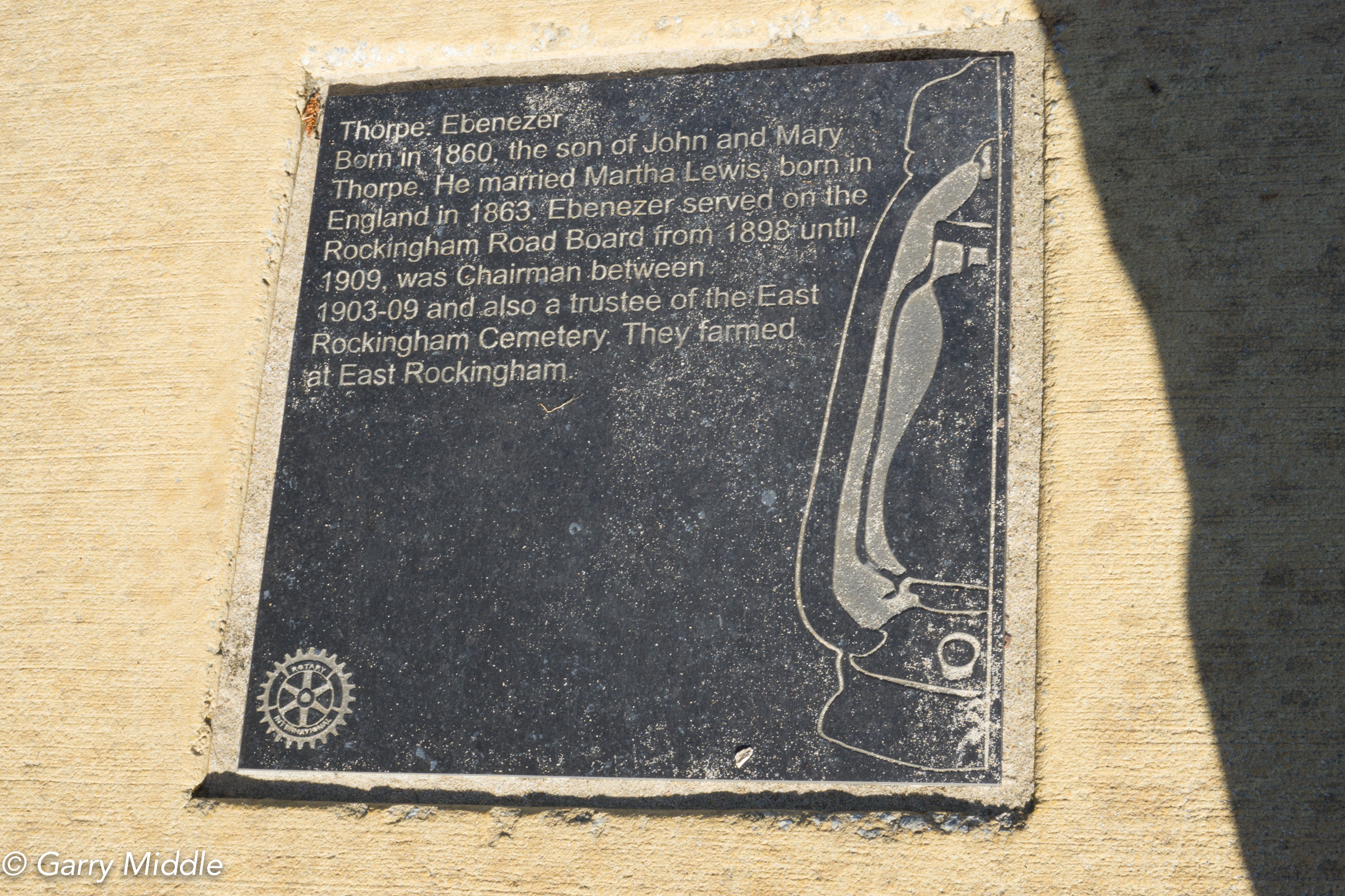 Plates 5 & 6: Historic Plaques in the path adjacent to the Rockingham Beach Foreshore