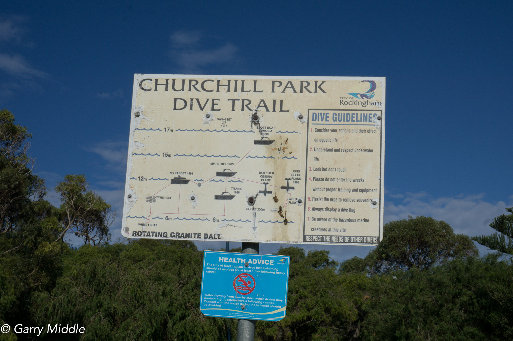 Plates 7: Churchill Park Dive trail