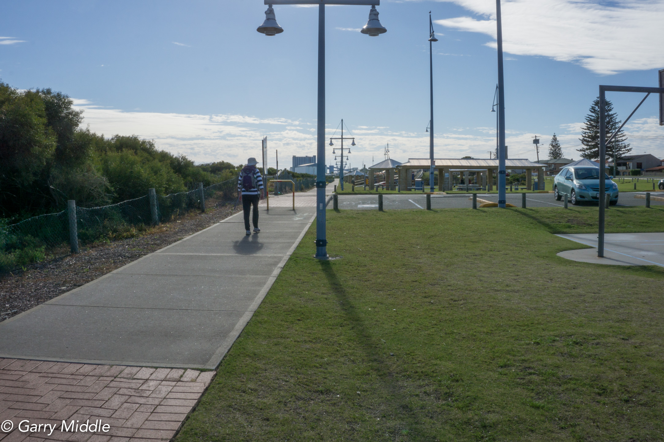 Plate 10: Photo showing the path as a boundary to a grassed recreation area and a well vegetated foreshore