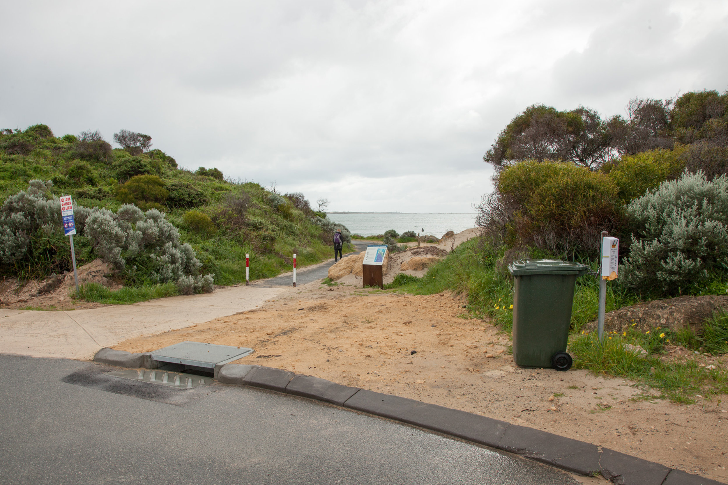 Plate 1: Start of the path at NW corner of carpark