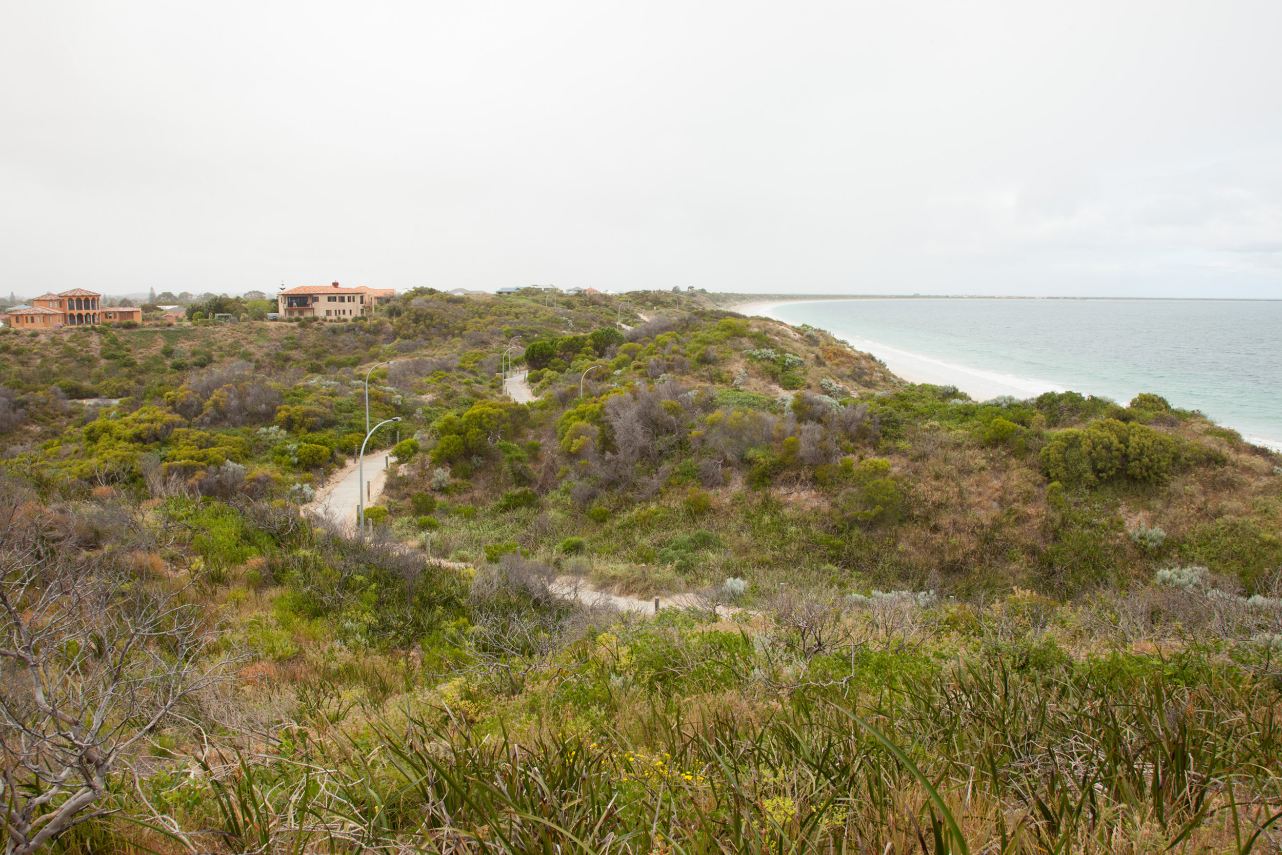 Plate 3: View of the path, dunes, foreshore reserve and the ocean.