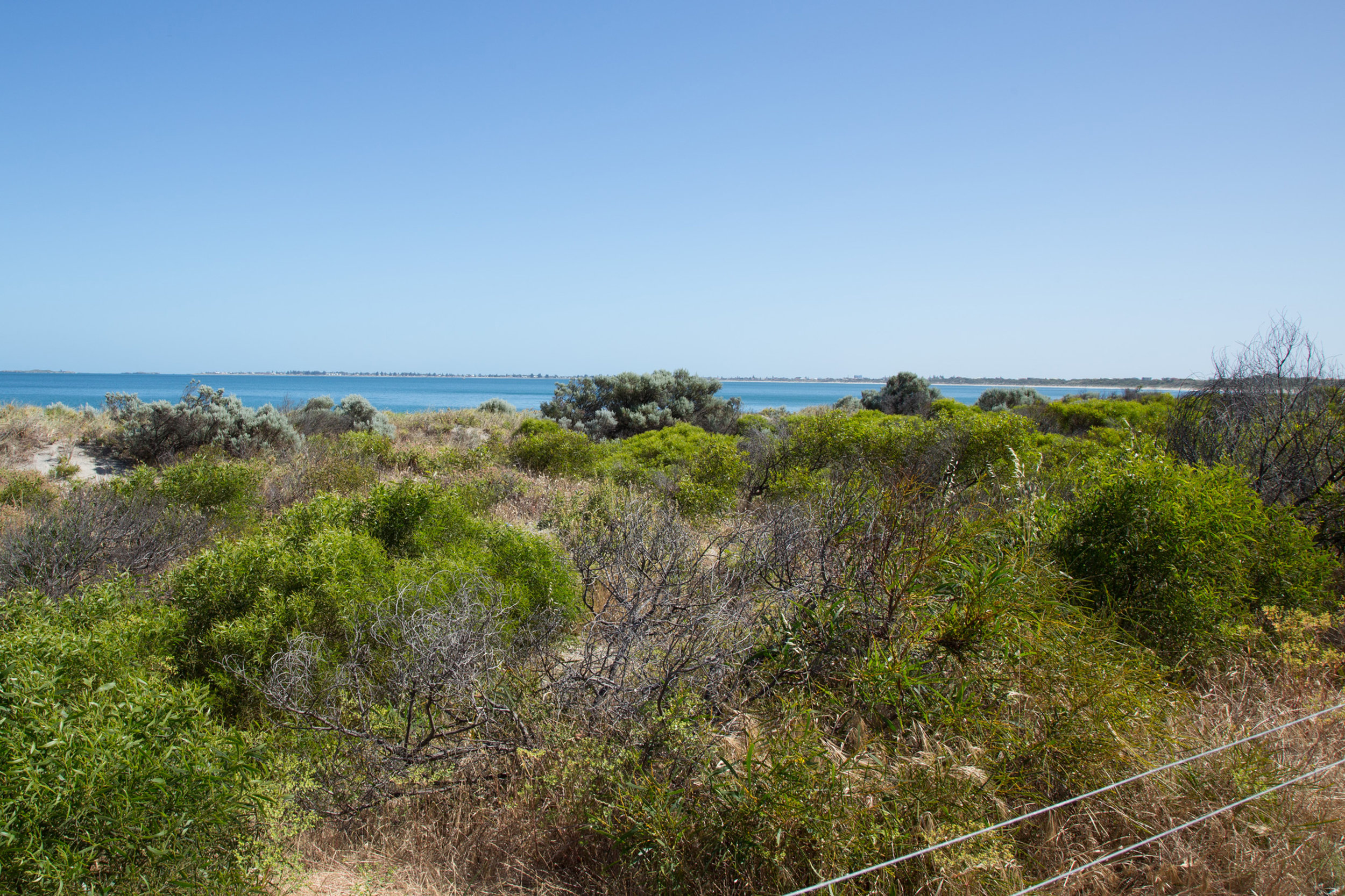Plate 4: Views from the section of the path that runs closer to the beach.
