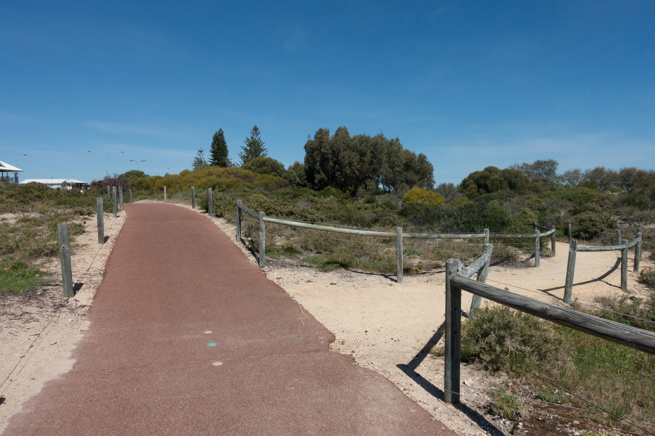 Plate 2: Limestone path to the carpark adjacent to the T junction of Singleton Beach Road and Foreshore Drive