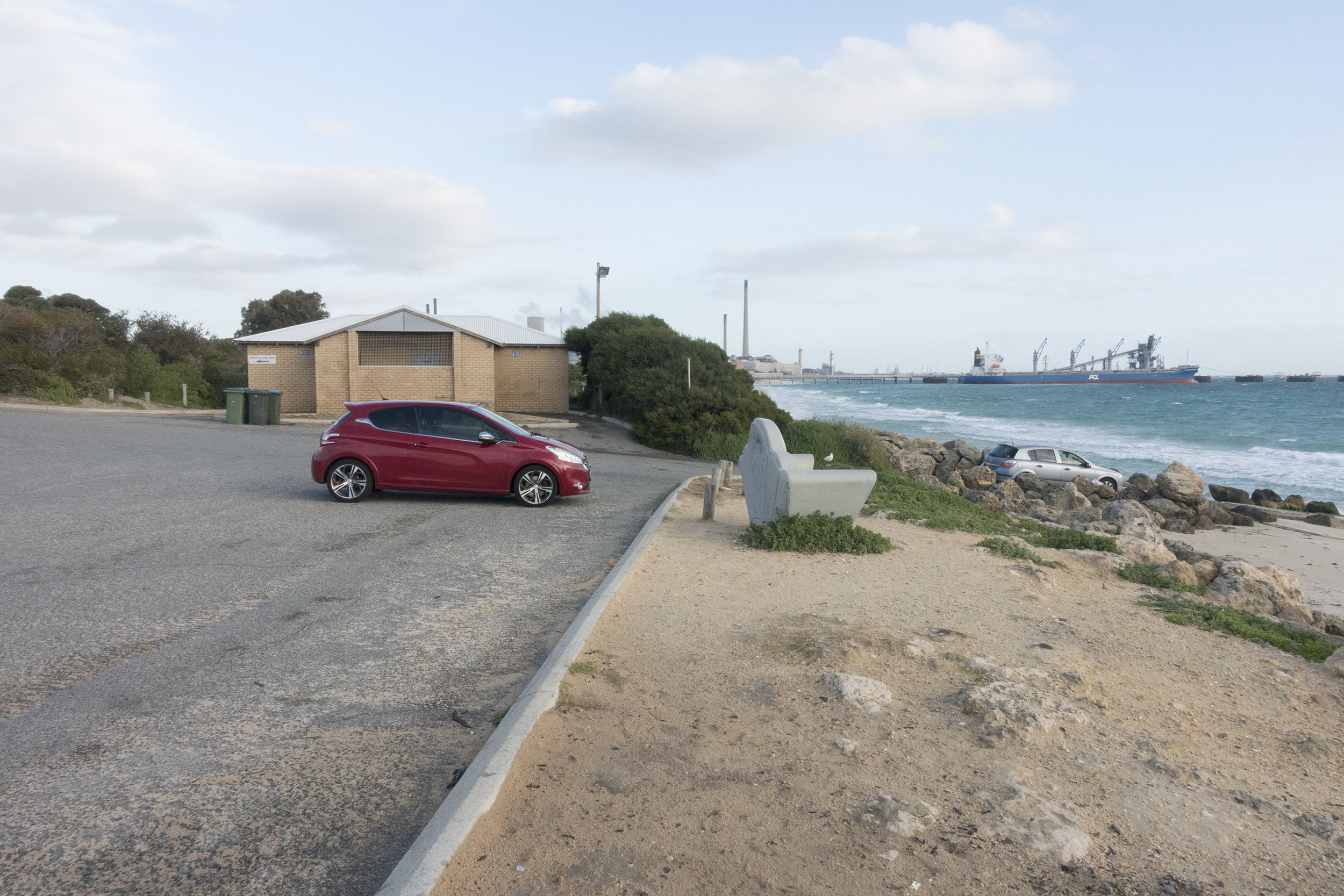 Plate 21: Small carpark and boat launching ramp at Challenger Beach