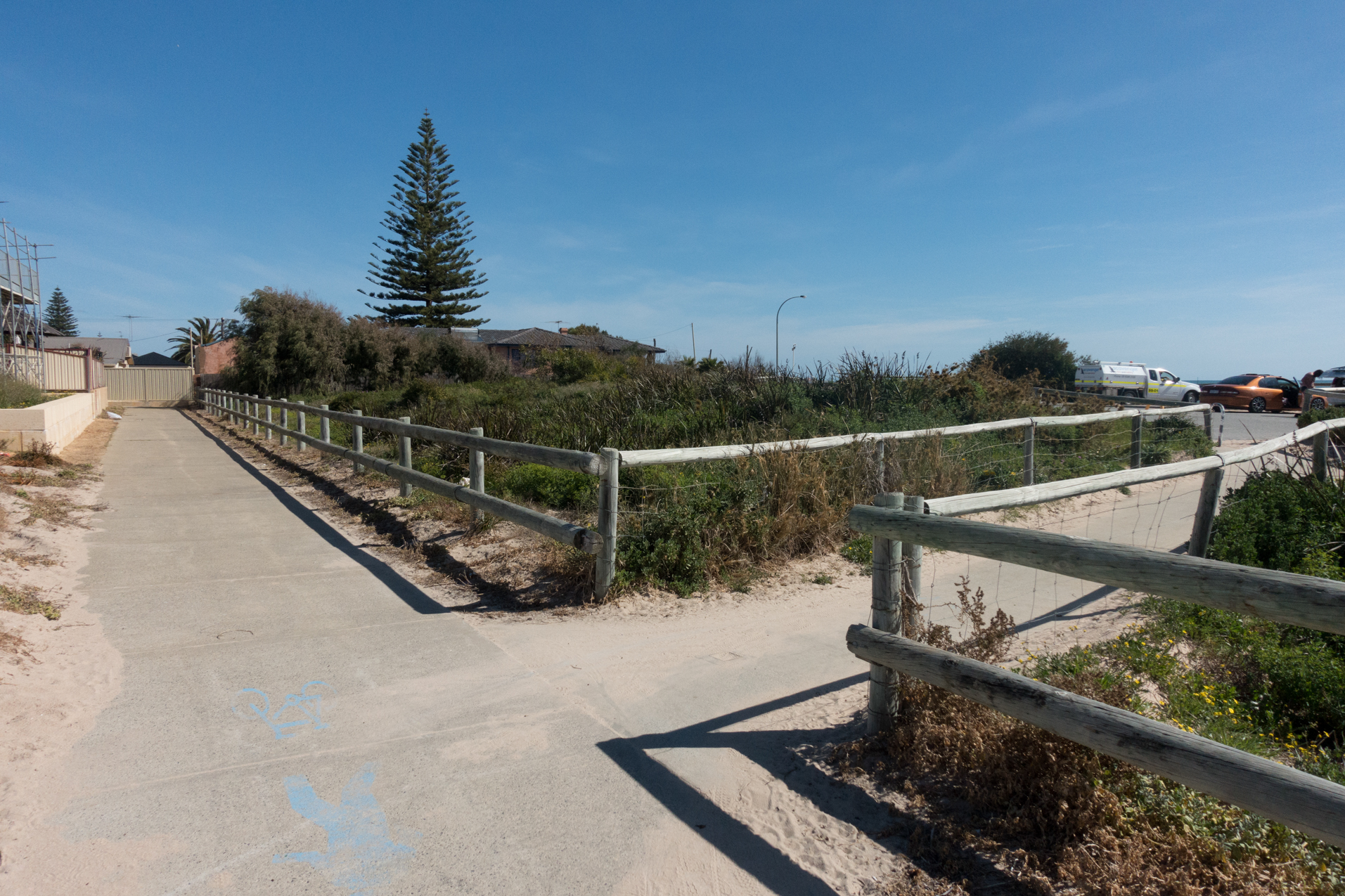 Plate 10: Path into the small carpark near the end of the walk