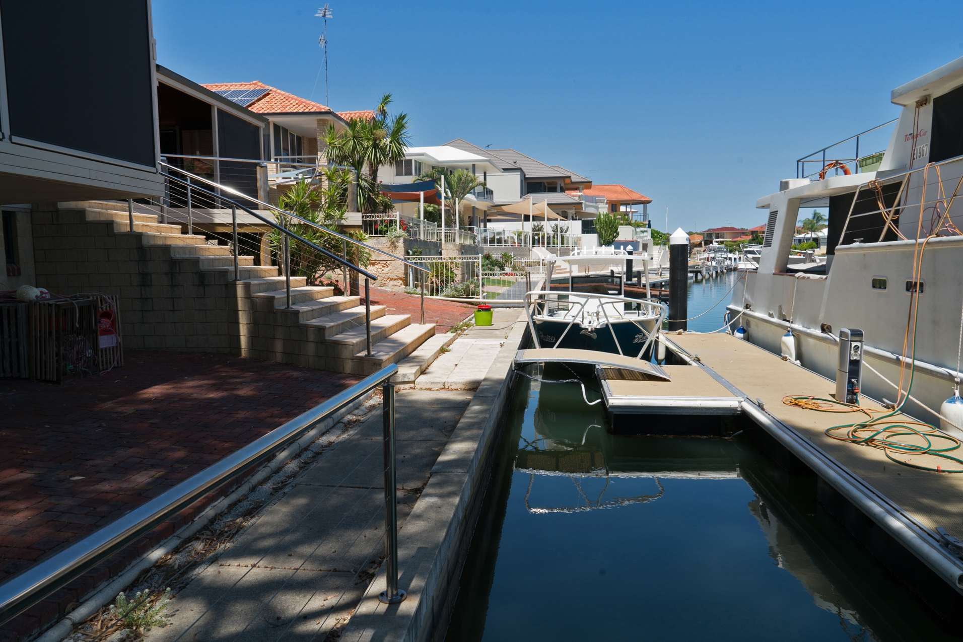 Plate 12: Typical waterfront in the canal estate with only residents having access