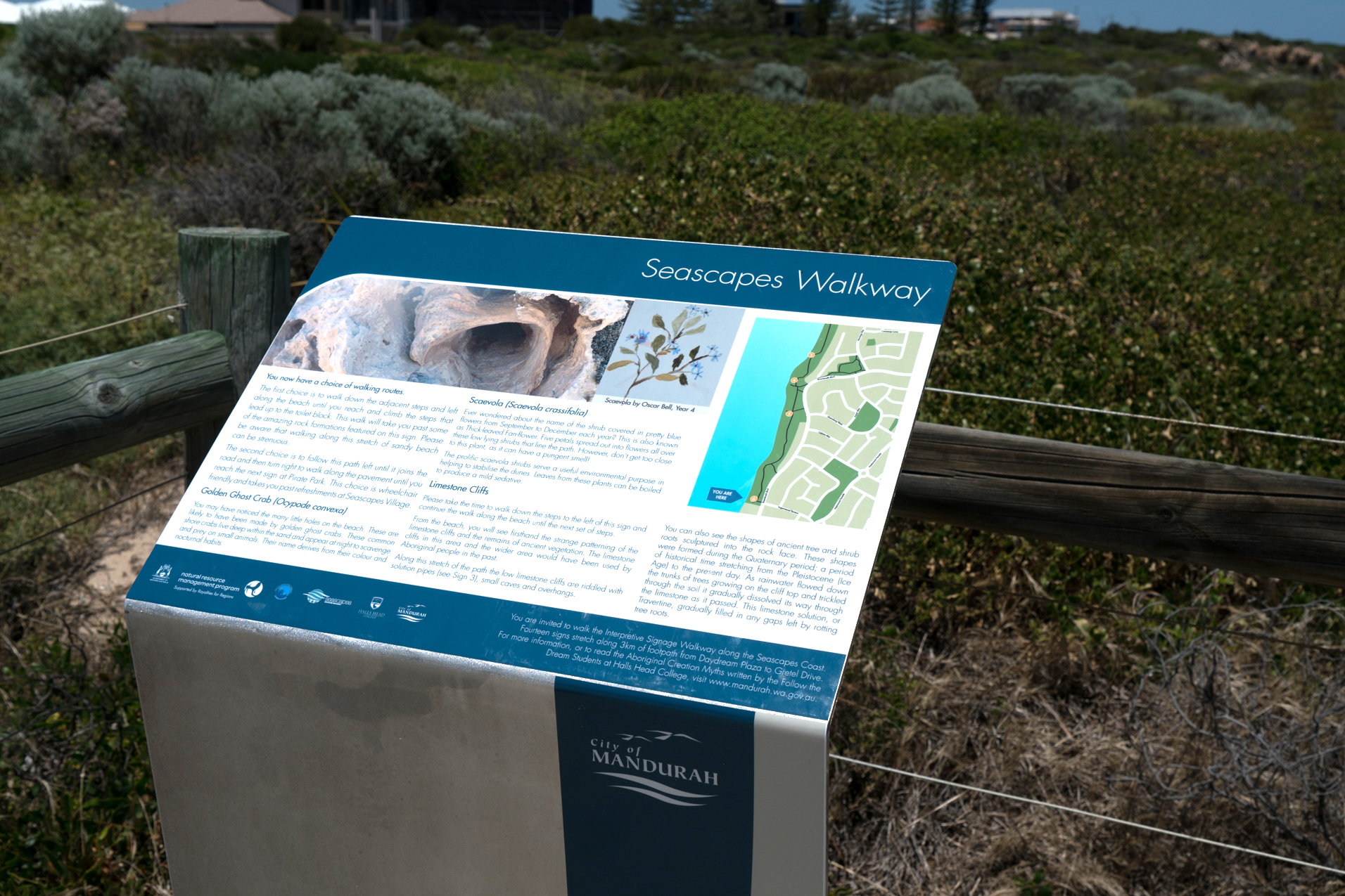 Plate 9: One of the interpretive signs on the the Seascapes Interpretive Walkway