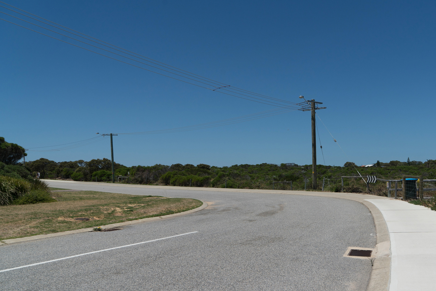 Plate 5: Next coastal path – the start can be seen just around the bend in the road and next to the lamp post