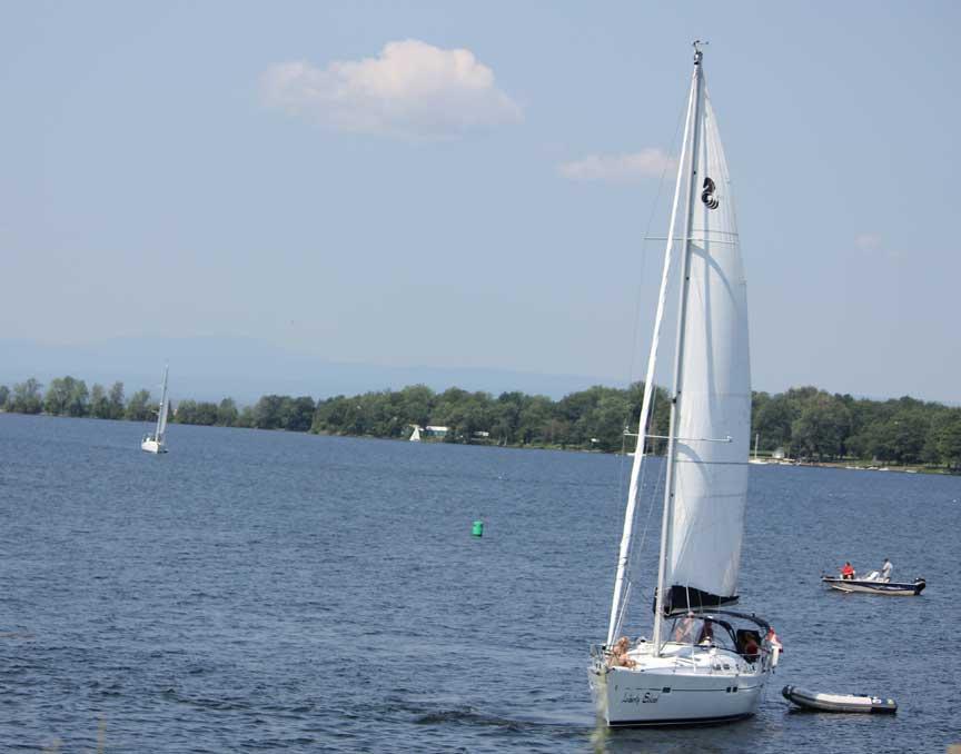 Sailing at Champlain Islands