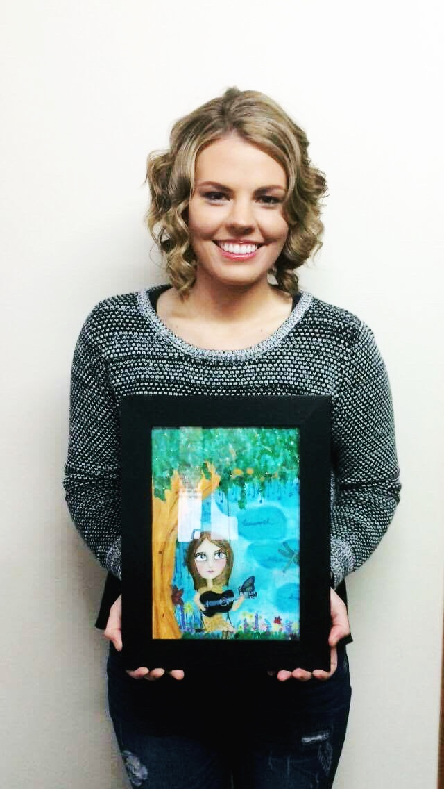 """This is the beautiful girl in that story and when she received this piece from her Aunty she """"...almost cried. It brings me so much happiness."""""""