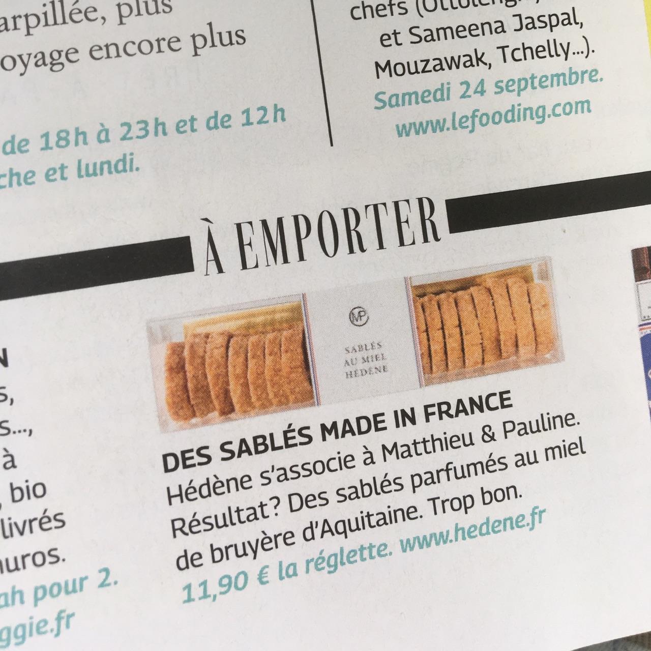 Article dans Grazia Sur notre collab' avec les fabuleux miels Hédène