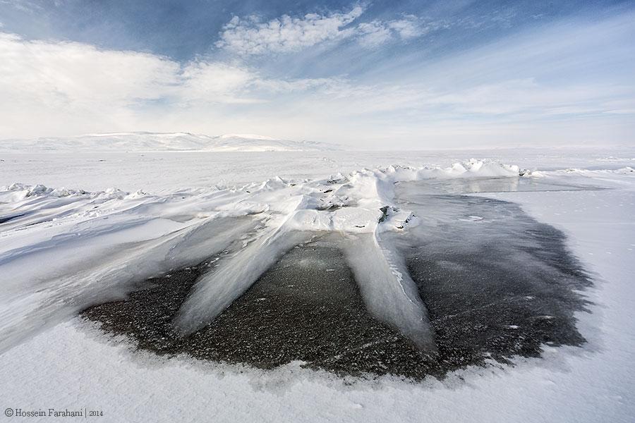 Lake Çıldır in Winter