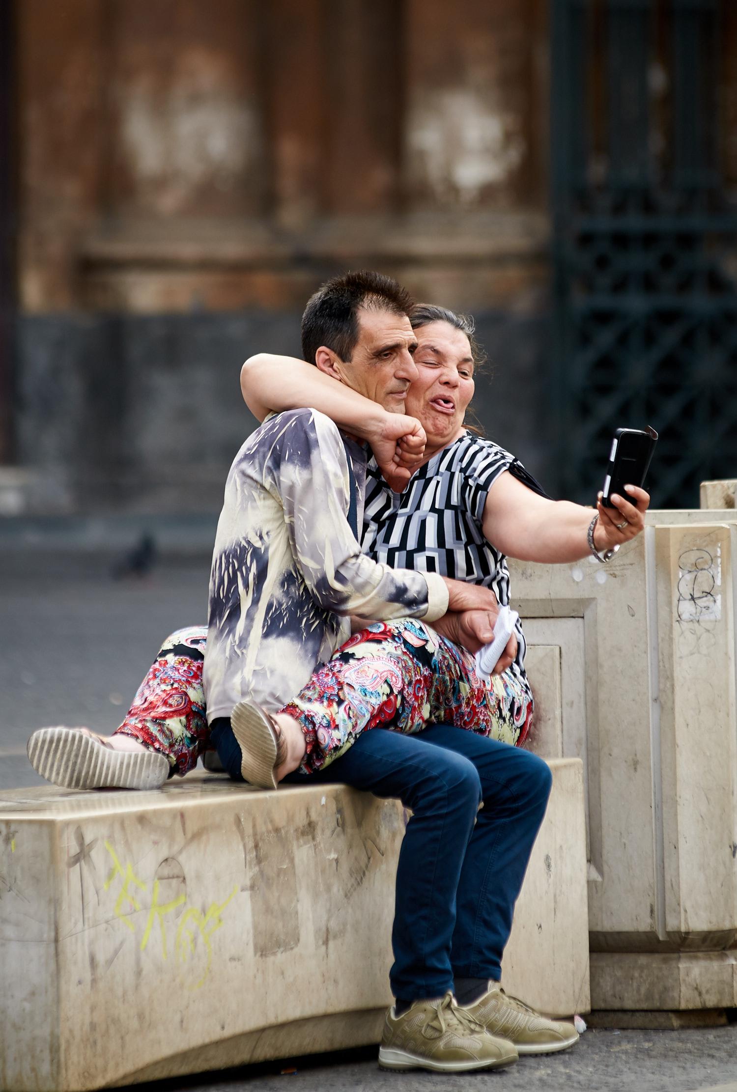 Lovebirds selfie...