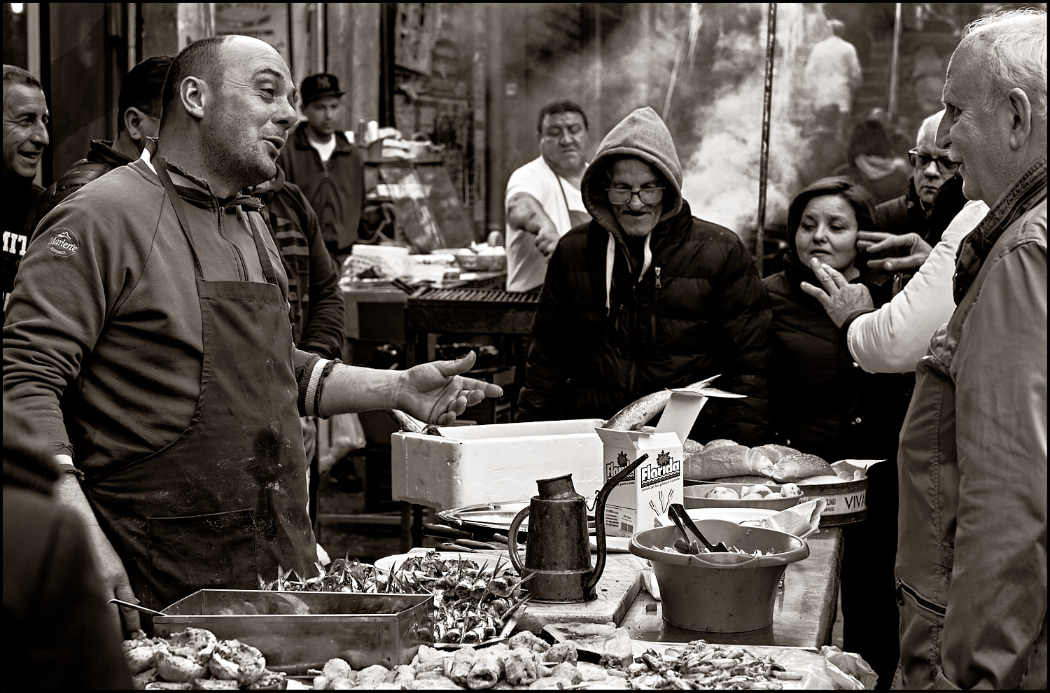 At the snackbar, Palermo style...