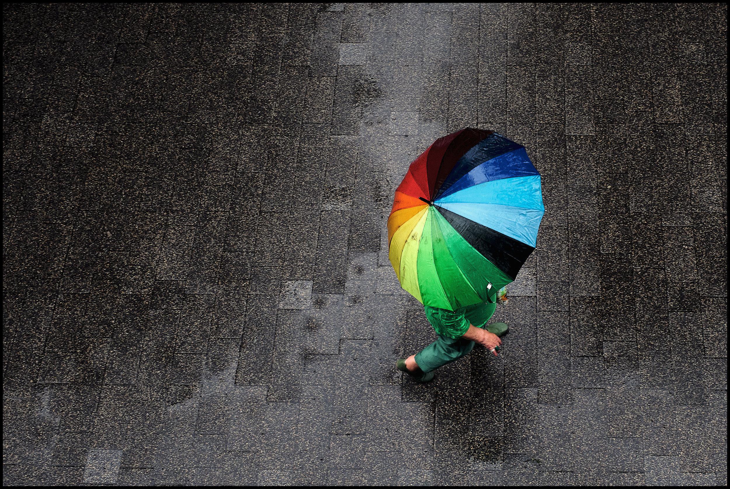 Rainbow colors...