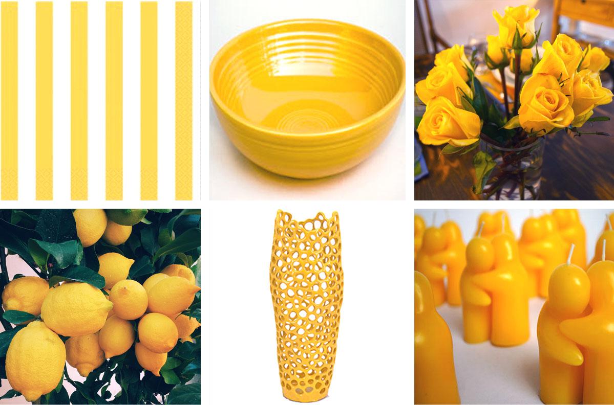 selection objets jaunes