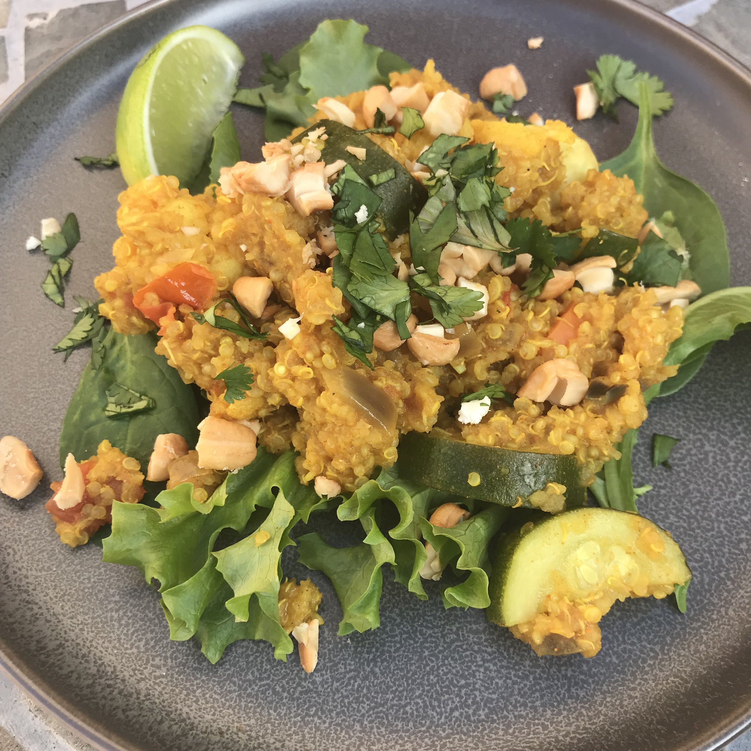 Plate of Curry Quinoa