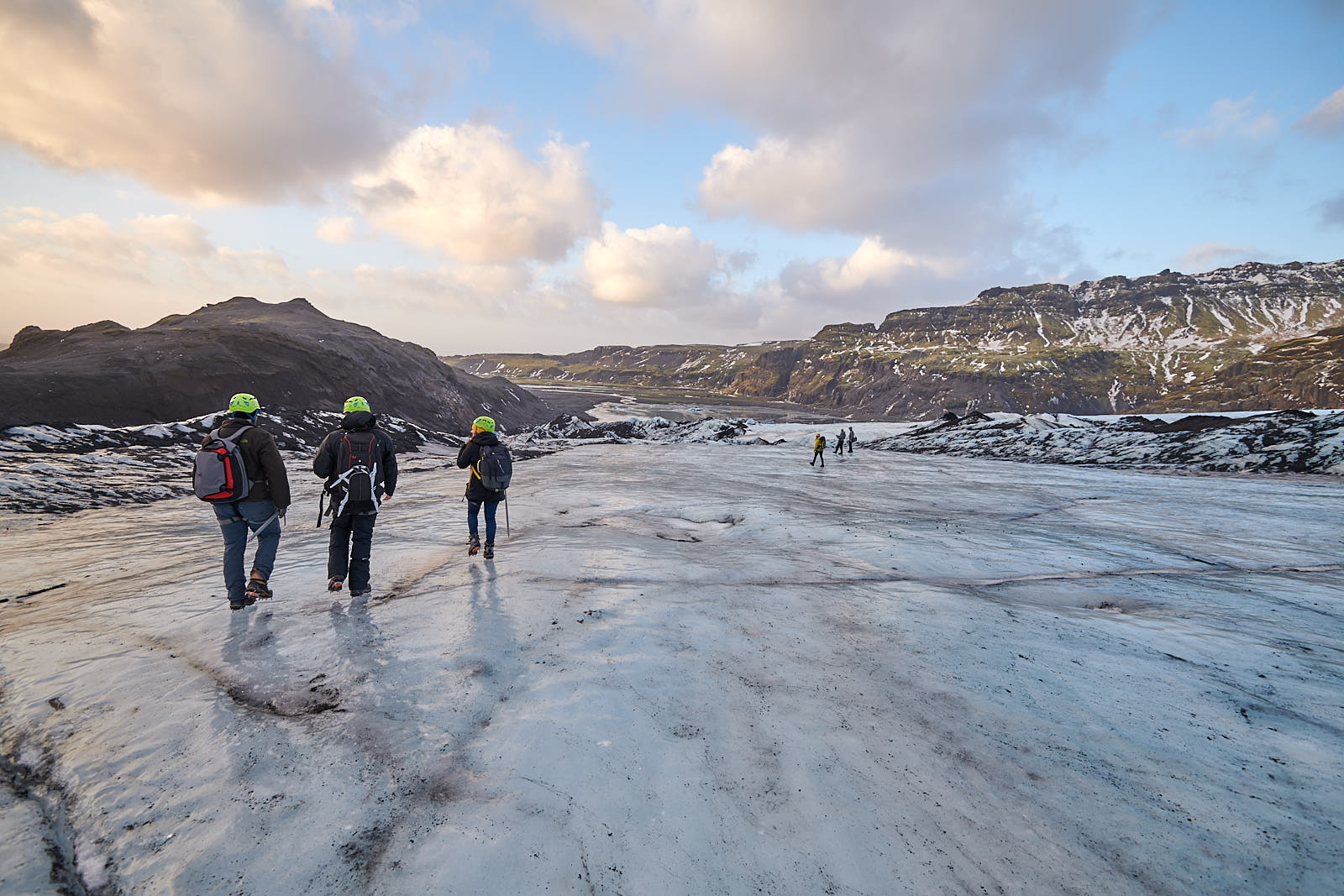 Team Iceland taking on a glacier. Photo by Bruce Lomasky.