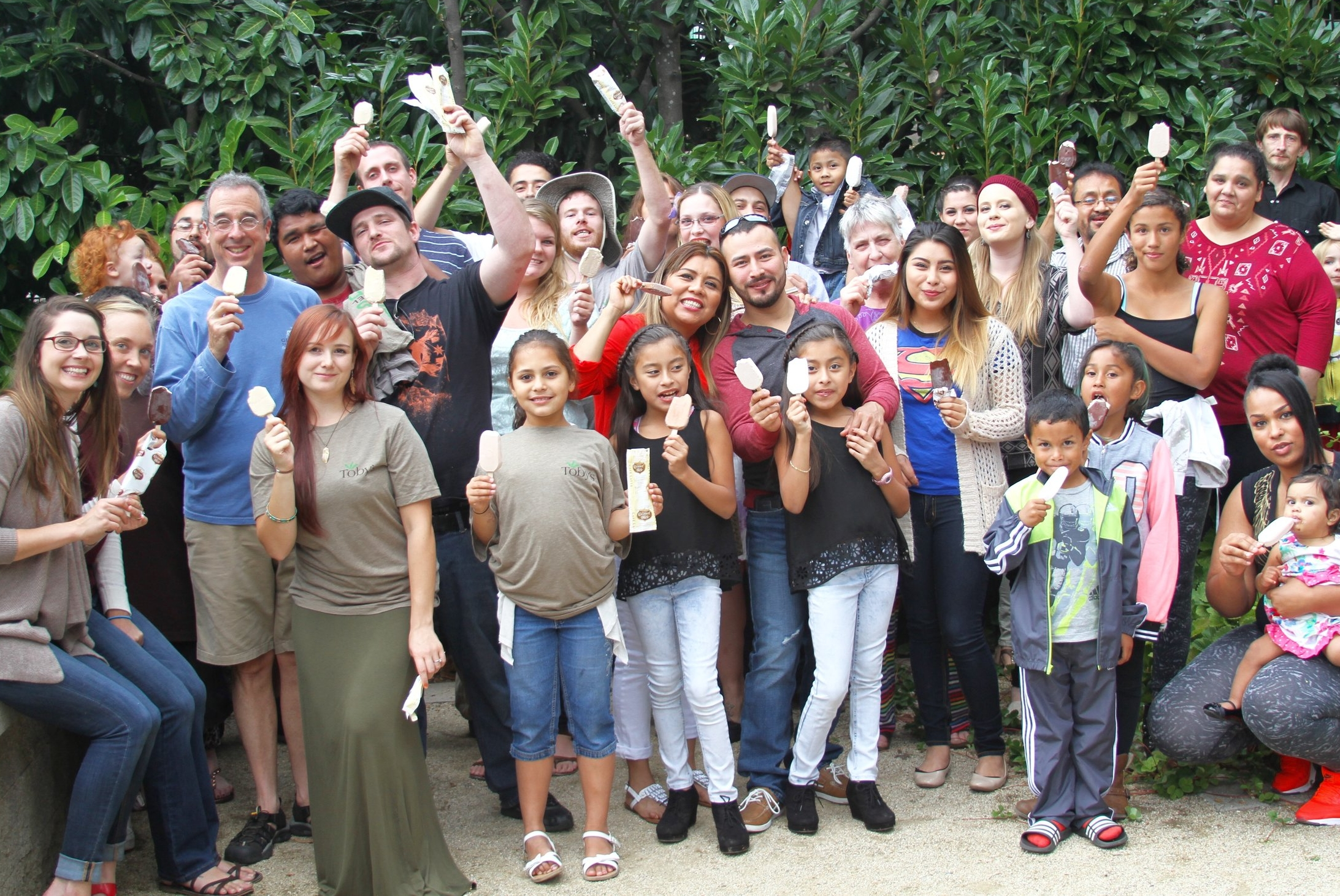 The people behind Genesis Juice & Toby's Family Foods (and family). And, yes. This is almost all of us!