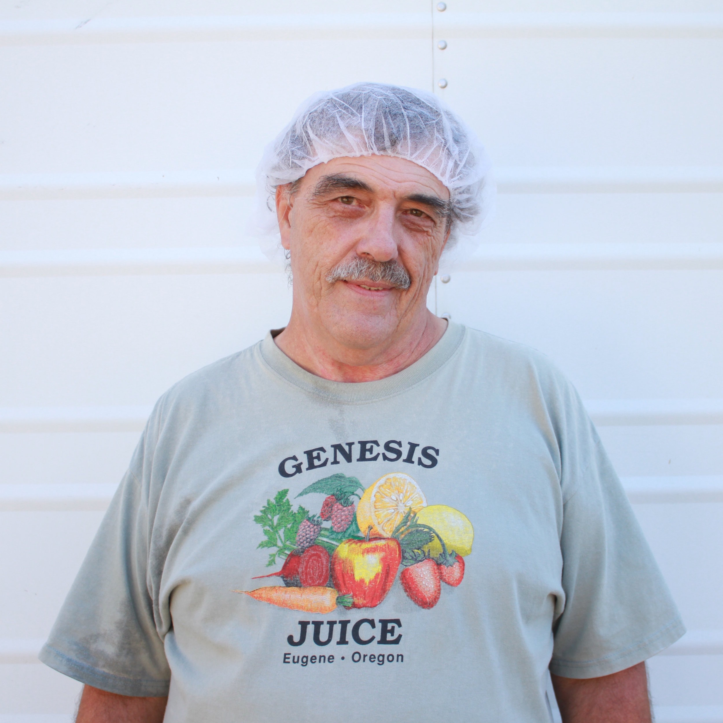 Dale,  HACCP man  History:   An original Genesis Juice Co-Op founding owner in 1975, helping us keep true every day!   Favorite Juice:   Strawberry Lemonade