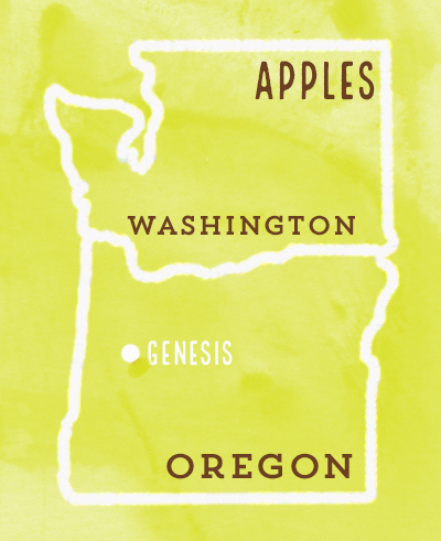 """99% of our apples come from Oregon and Washington - no wonder it's called """"Pacific Northwest Apple"""""""