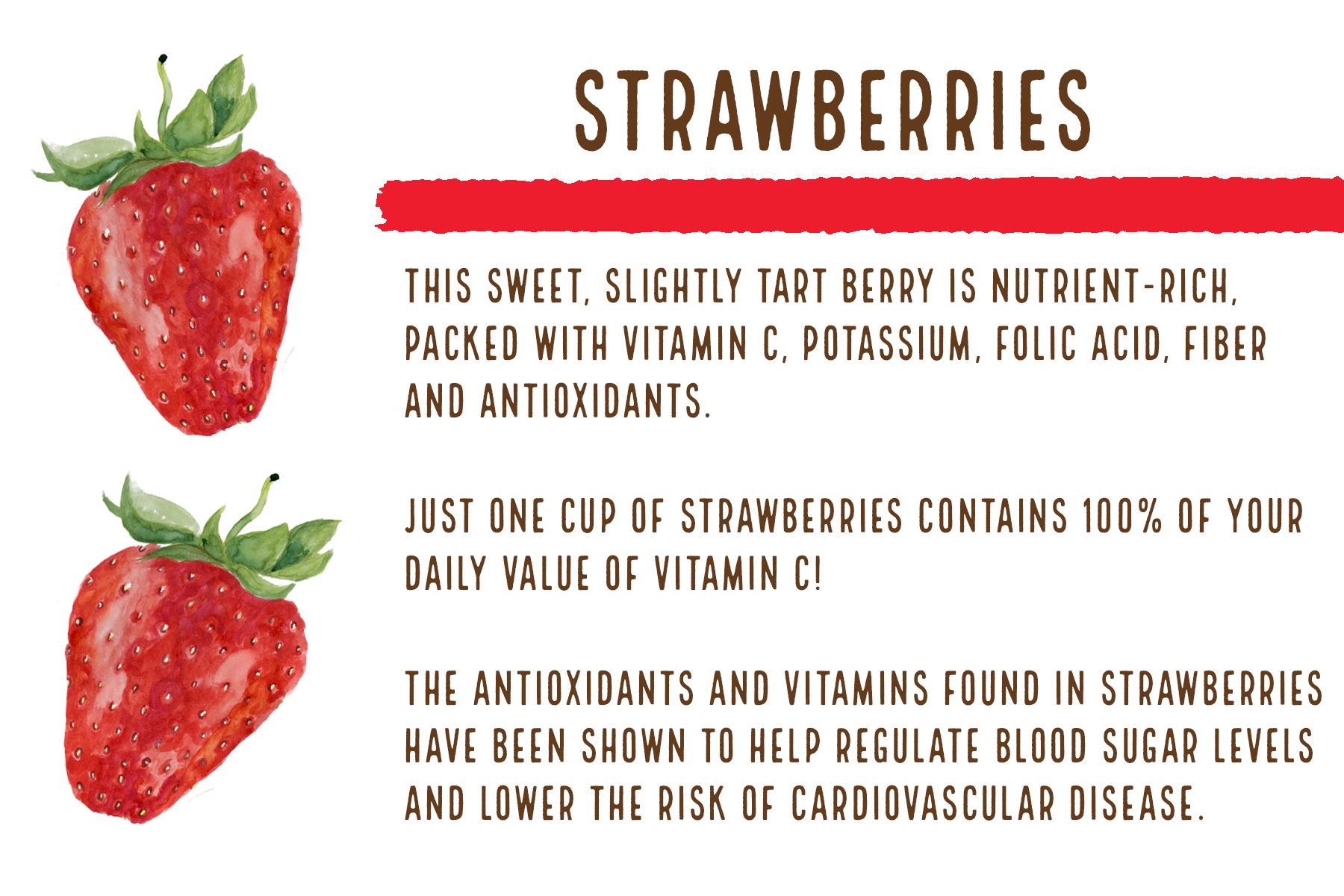 Fun fact:There are 2 1/2 strawberries in every bottle of Genesis Strawberry Apple!