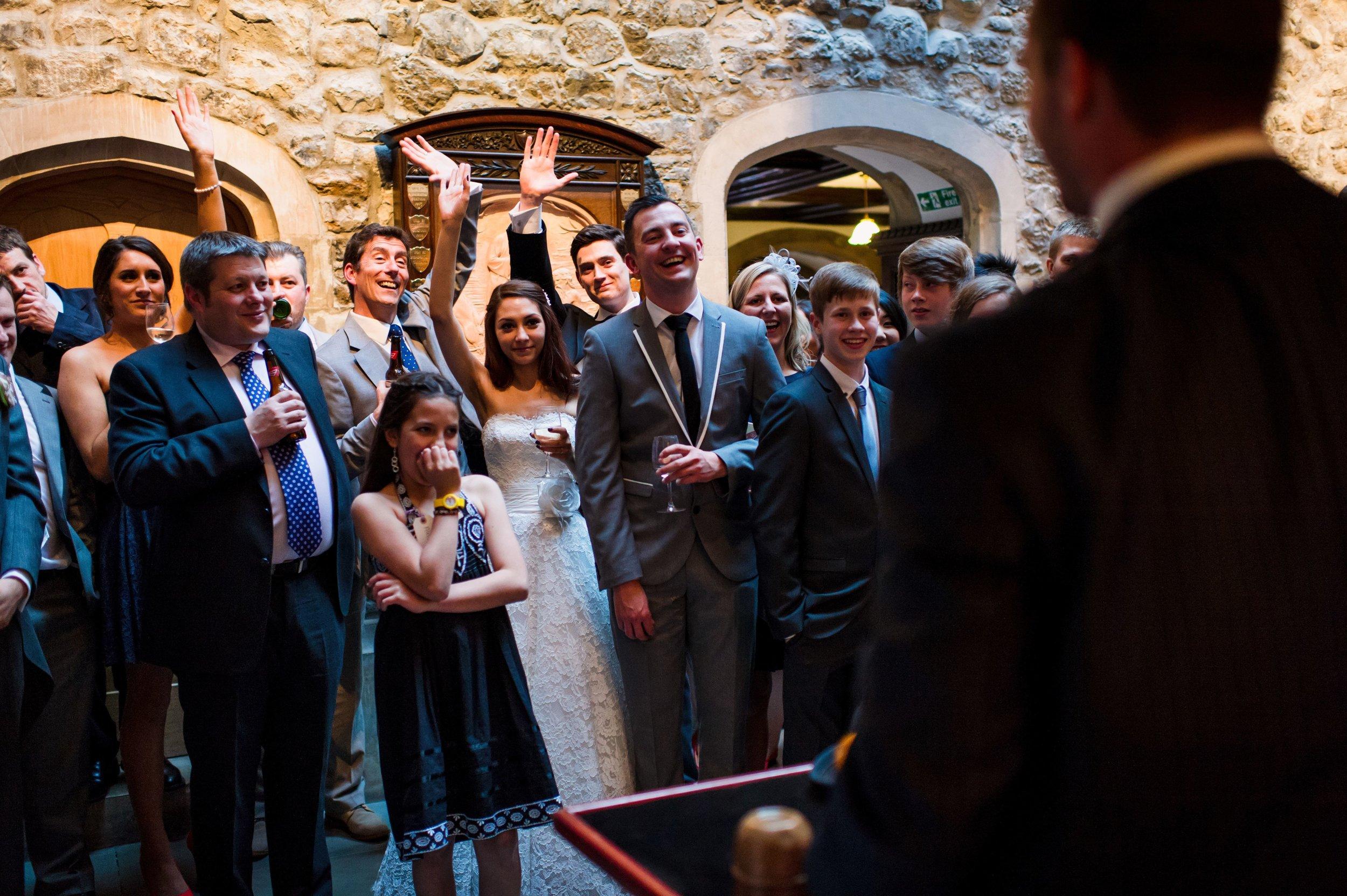 wedding magician Nick Stein entertaining at wedding .jpg
