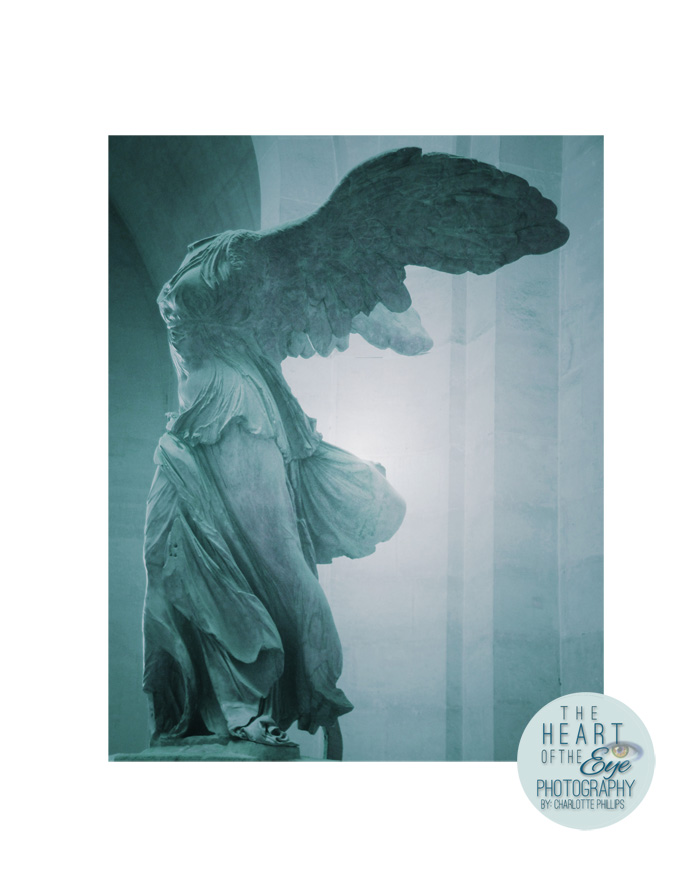 """Winged Victory of Samothrace Statue""  at Louvre, Paris, France"
