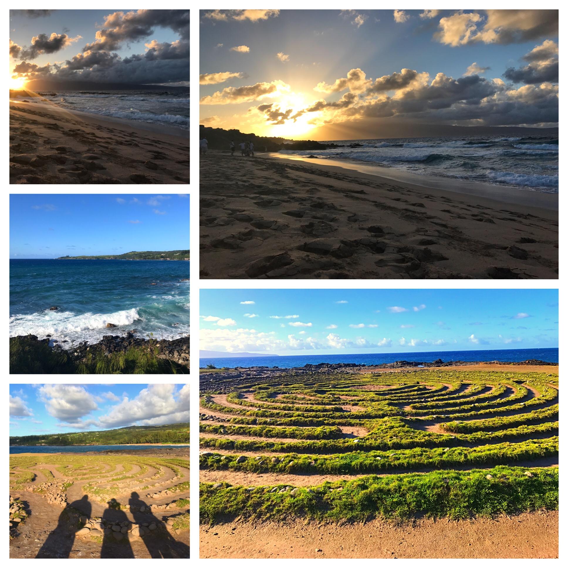 Beautiful spiritual moments in Maui.