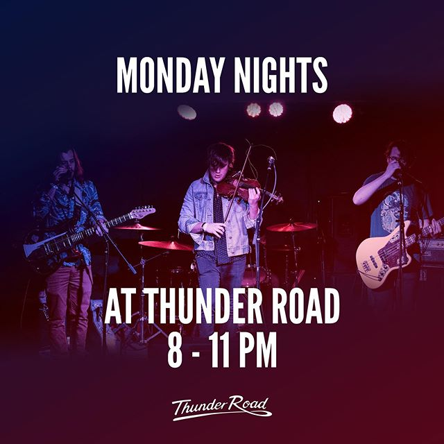 We're doing this starting TONIGHT!! We'll be playing at @thunderroadclub every Monday until the end of June. Tonight is free so come on out to Somerville and have a time with us.