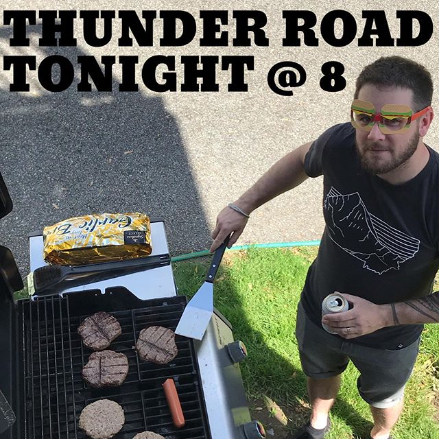 Chris will be grilling burgers from behind the drum kit tonight as our residency continues at Thunder Road in Somerville!