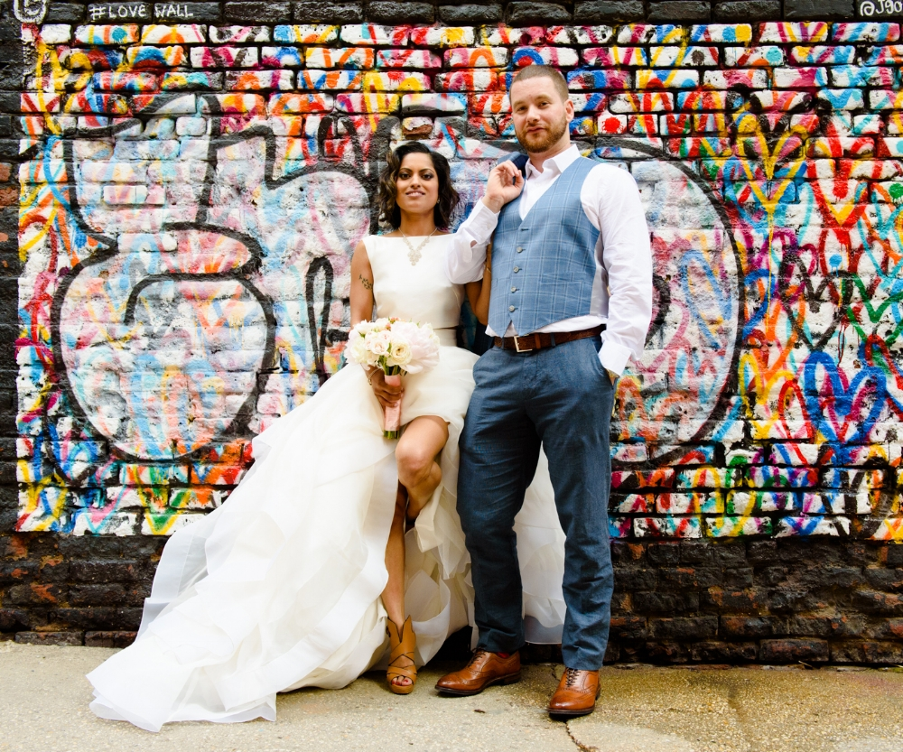Shelly And Jax  were so much fun to follow around Manhattan, she's definetly an out of the box artistic bride!