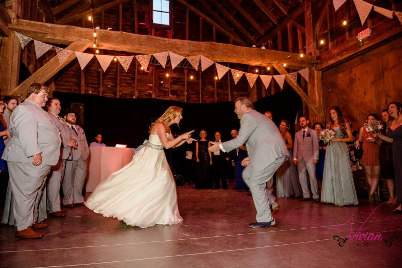 When you've found a genuine friend in the one you love, you have fun together, doing nothing or doing anything! They enhance your creativity and ability to enjoy yourself in every situation. This couple started swing dancing at  their barn wedding  and they truly were having a blast!