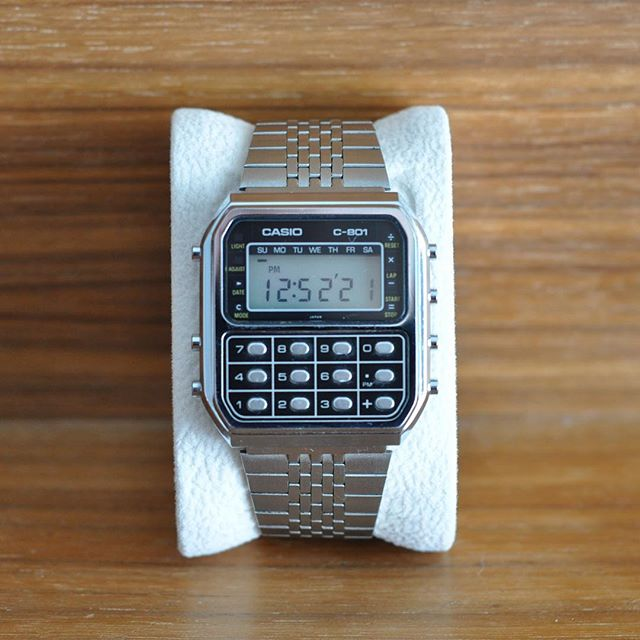 I know this makes me a bit of a hipster, but I just couldn't resist!  1980s #casio c-801 #calculatorwatch