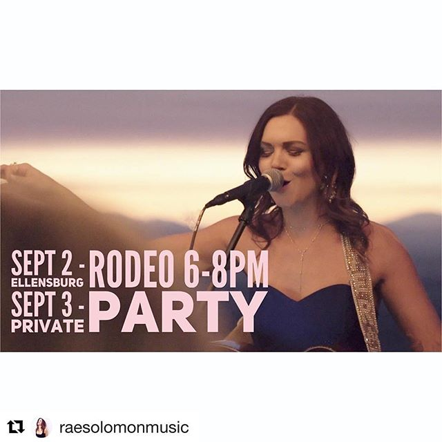 #Repost @raesolomonmusic (@get_repost) ・・・ This weeks shows!! #RaesEmUp #livemusic #ellensburgrodeo #rodeo #newmusic #seattle #countrymusic #raesolomon #tourlife