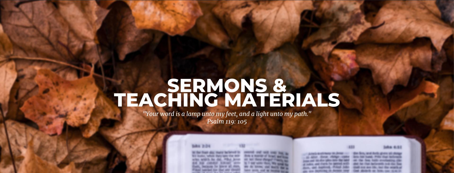 Sermons and Teaching Materials — United Pentecostal Church GB&I