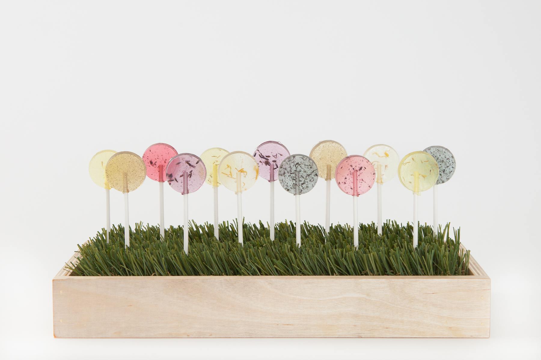 """Enjoy A line of yummy lollipops with flavors like vanilla-hibiscus, lavender-lemongrass, and peach-marigold that each beautifully distill their advertised flavors. Long-lasting, not too saccharine, and just plain cute..."" Read on by clicking on the image above."