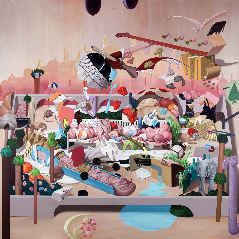 Brainwash     2010, Acrylic on canvas, 200x200cm