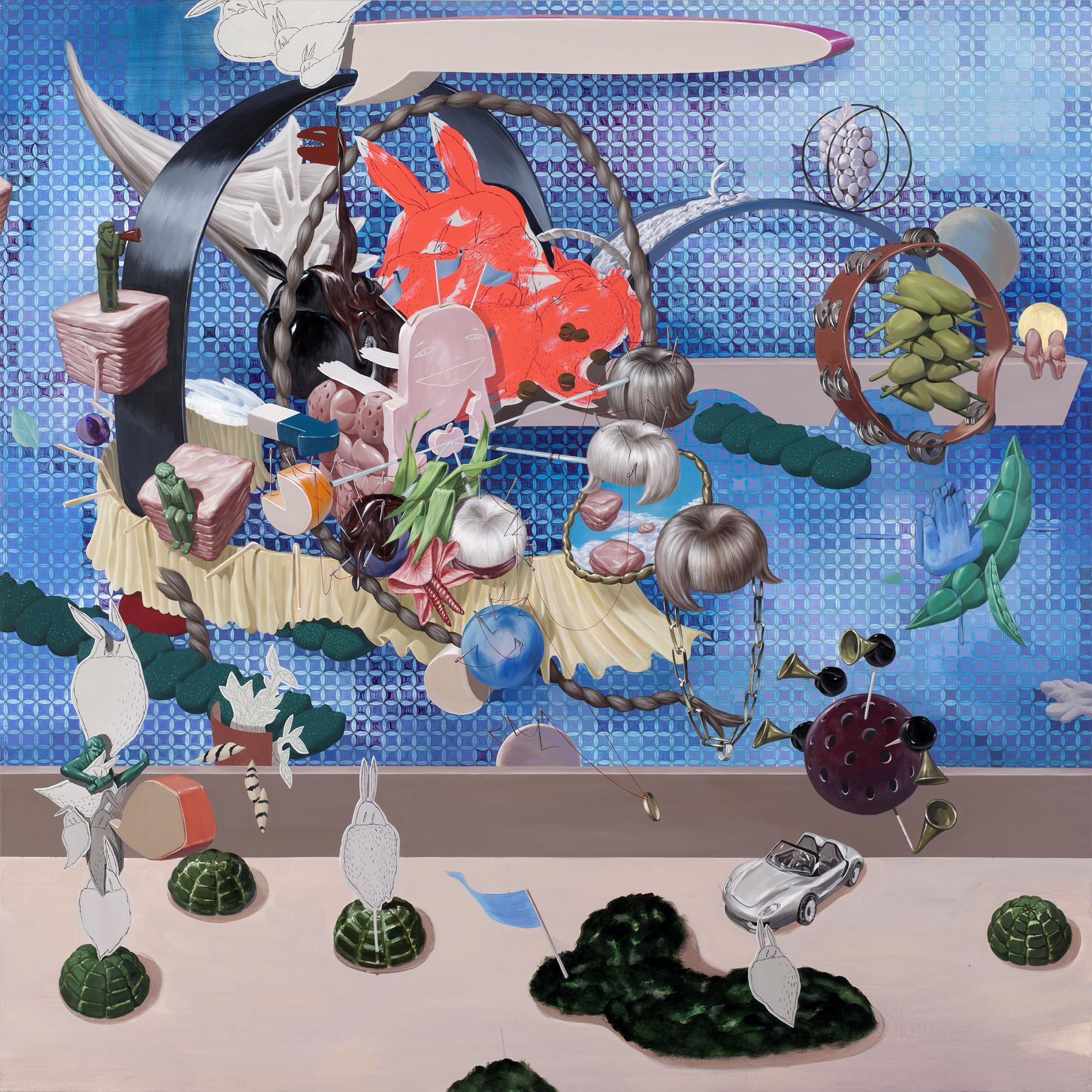 Silo thinking    2011,Acrylic on canvas, 145x145cm