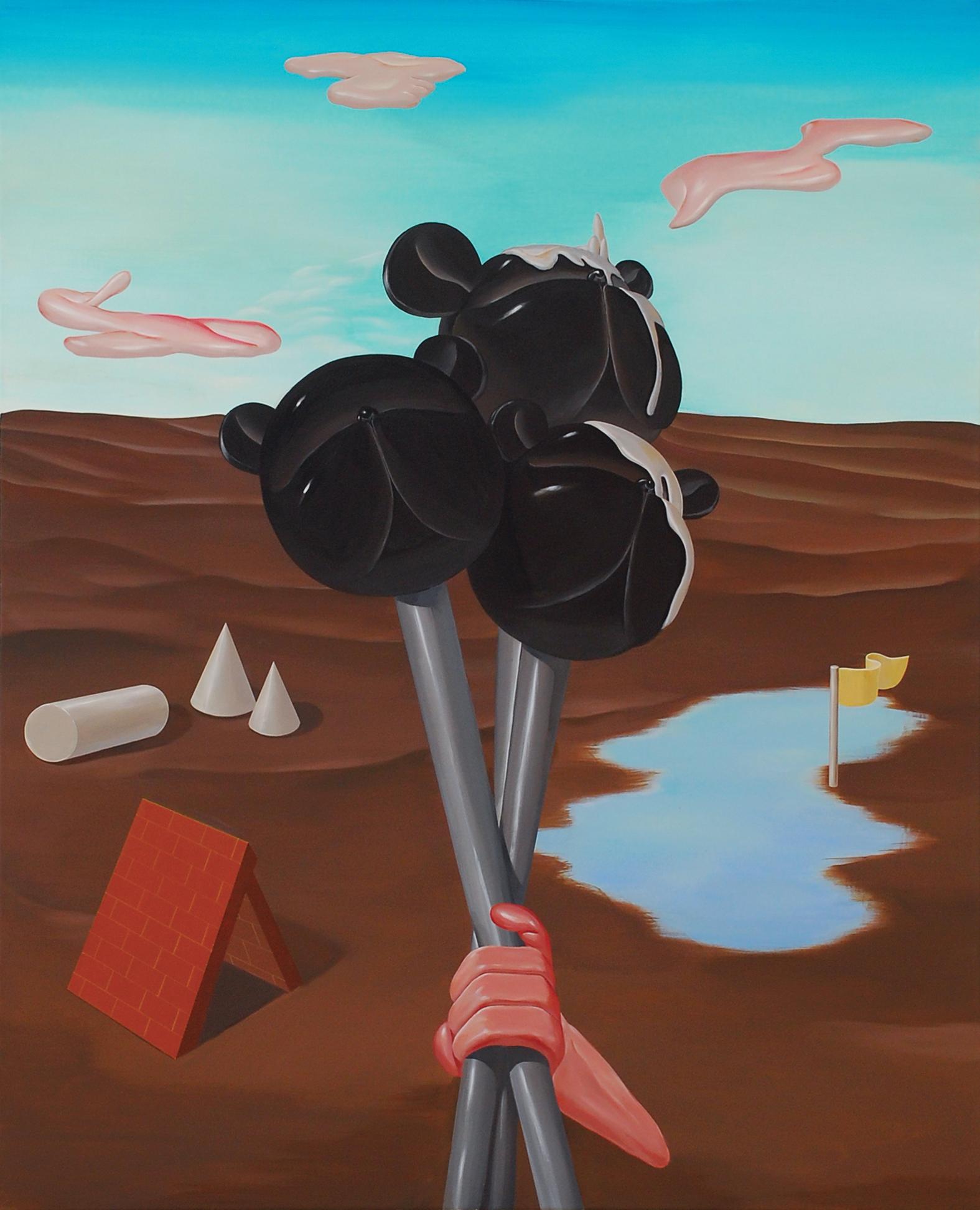 Floating_b    2009,Acrylic on canvas, 91x73cm
