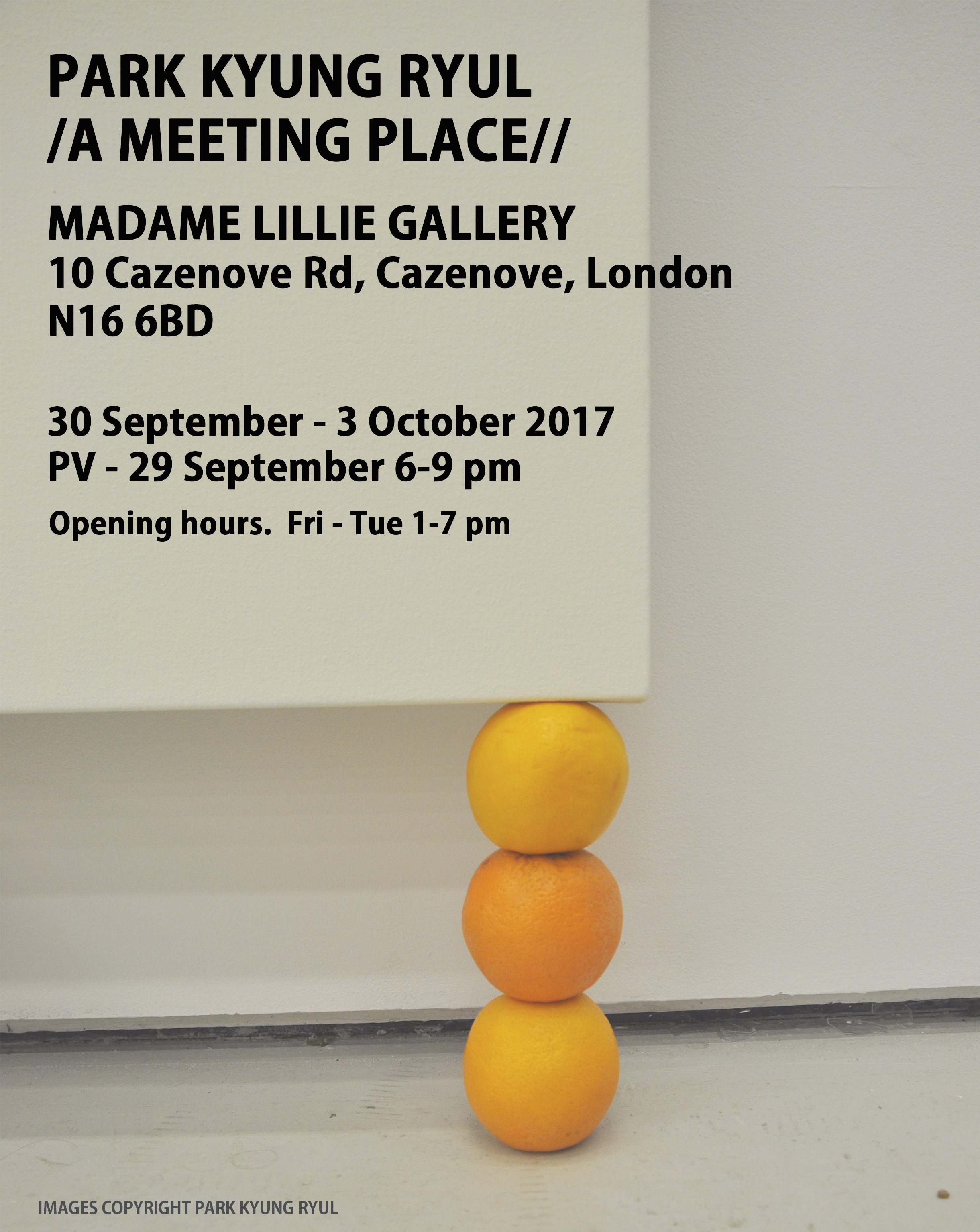 - A MEETING PLACEMADAME LILLES GALLERY30 SEP - 03 OCT 2017